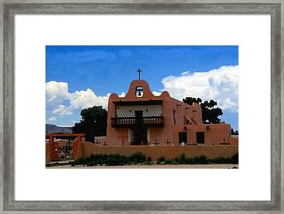 San Ildefonso Pueblo Framed Print by David Lee Thompson