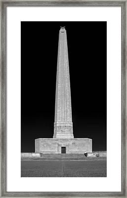 San Jacinto Star Black And White Framed Print by Joshua House