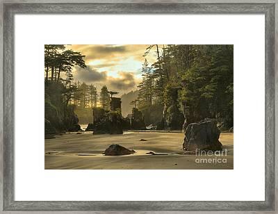 San Josef Bay Sunset Framed Print by Adam Jewell