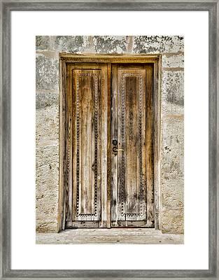 San Juan Capistrano Door #4 -- San Antonio Framed Print by Stephen Stookey