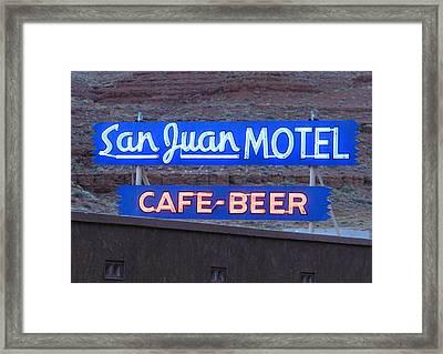 San Juan Motel Sign Framed Print by Troy Montemayor