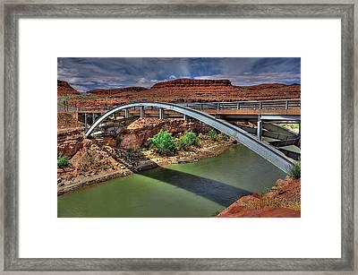 San Juan River Bridge Framed Print by William Wetmore