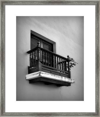 San Juan Window 2 Framed Print by Perry Webster