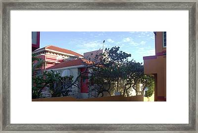 San Juan Yellow And Red Framed Print by Anna Villarreal Garbis