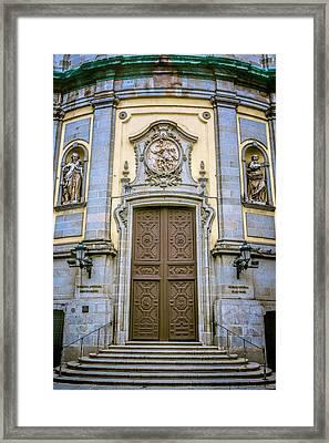 San Miguel Portal Madrid Spain Framed Print by Joan Carroll