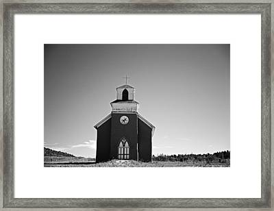 San Rafael Church, La Cueva, Nm, July 27, 2015 Framed Print by Mark Goebel
