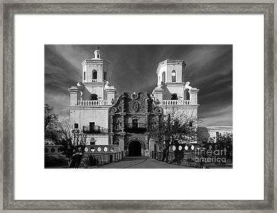 San Xavier Del Bac Mission Framed Print by Sandra Bronstein