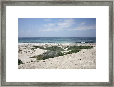 Sand And Sea Framed Print by Carol Groenen