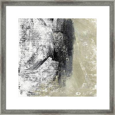Sand And Steel- Abstract Art Framed Print by Linda Woods