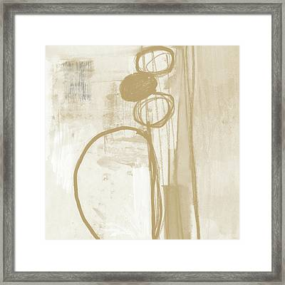 Sand And Stone 2- Contemporary Abstract Art By Linda Woods Framed Print by Linda Woods