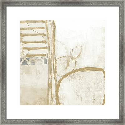 Sand And Stone 3- Contemporary Abstract Art By Linda Woods Framed Print by Linda Woods