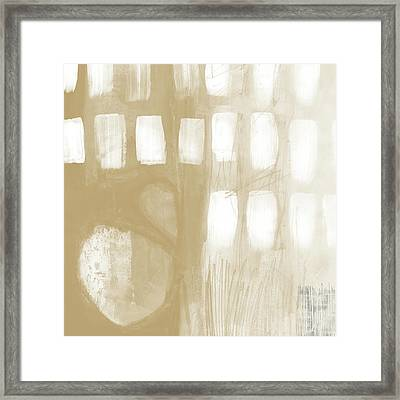Sand And Stone 4- Contemporary Abstract Art By Linda Woods Framed Print by Linda Woods