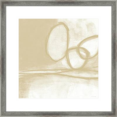 Sand And Stone 6- Contemporary Abstract Art By Linda Woods Framed Print by Linda Woods