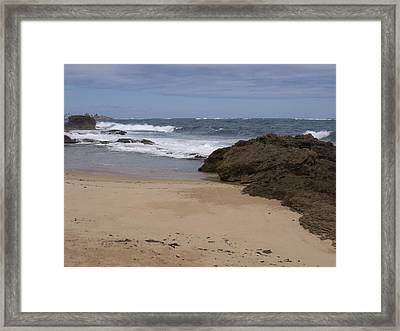 Sand And Surf San Juan Framed Print by Anna Villarreal Garbis