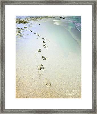 Sand Between My Toes Framed Print by Betty LaRue
