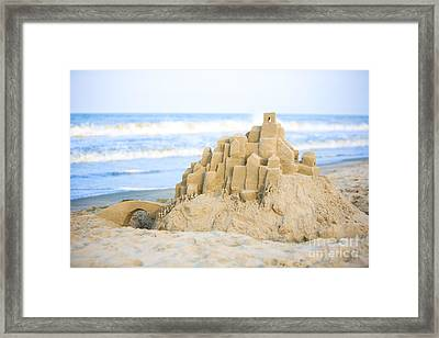 Sand Castle Framed Print by Diane Diederich