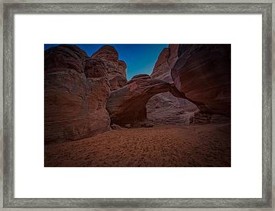 Sand Dune Arch Framed Print by Rick Berk