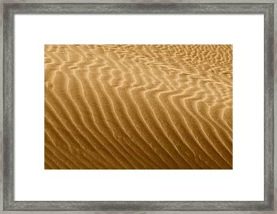 Sand Dune Mojave Desert California Framed Print by Christine Till
