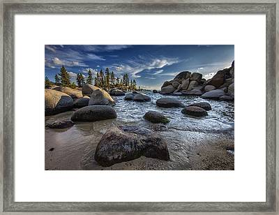 Sand Harbor II Framed Print by Rick Berk