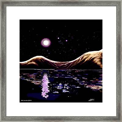 Sand Hills Moon Walk Framed Print by G Jay Jacobs