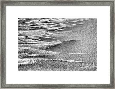 Sand Sea - Black And White Framed Print by Hideaki Sakurai