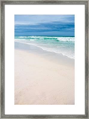 Sand Water And Sky Framed Print by Shelby Young