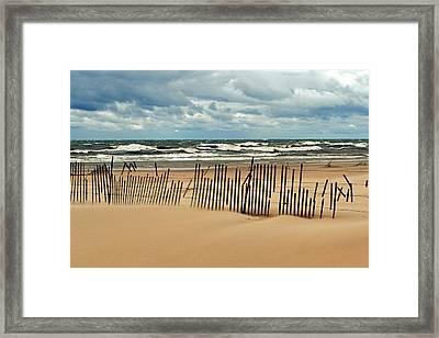 Sandblasted Framed Print by Michelle Calkins