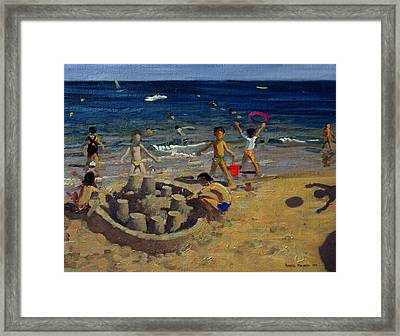 Sandcastle Framed Print by Andrew Macara