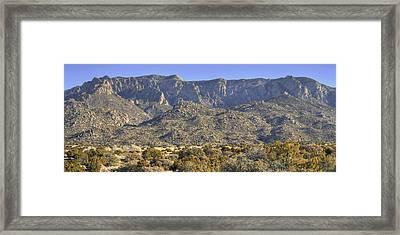 Sandia Mountain Panorama Framed Print by Alan Toepfer