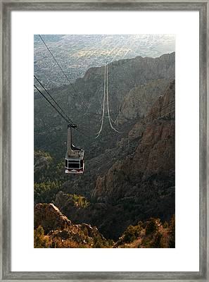 Sandia Peak Cable Car Framed Print by Joe Kozlowski