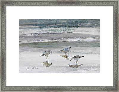 Sandpipers Framed Print by Julianne Felton