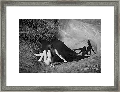 Sandstone Pinup Framed Print by Inge Johnsson
