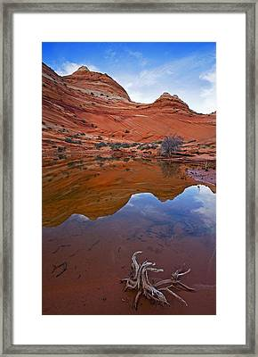 Sandstone Pools Framed Print by Mike  Dawson