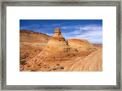 Sandstone Tent Rock Framed Print by Mike  Dawson