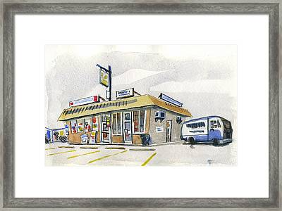 Sandwich Shop Framed Print by Ashley Lathe