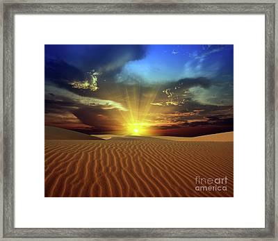Sandy Desert Framed Print by MotHaiBaPhoto Prints