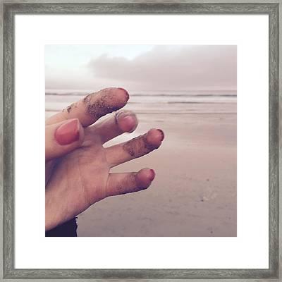 Sandy Fingers Framed Print by Kelly Jade King