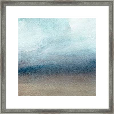 Sandy Shore- Art By Linda Woods Framed Print by Linda Woods