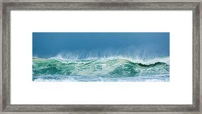 Sandy Wave Framed Print by Michelle Wiarda