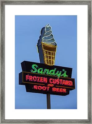 Sandys Frozen Custard - Austin Framed Print by Stephen Stookey
