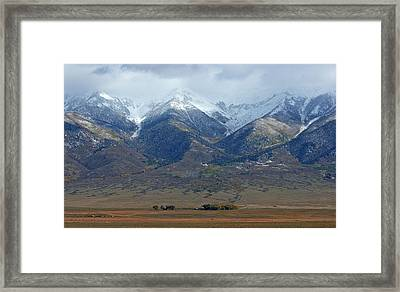 Sangre De Cristo First Snow Framed Print by Merja Waters