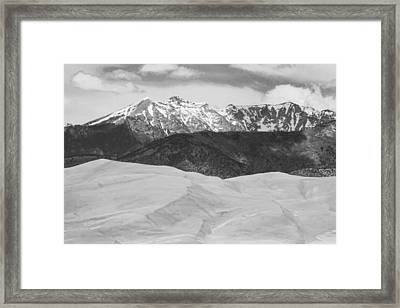 Sangre De Cristo Mountains And The Great Sand Dunes Bw Framed Print by James BO  Insogna