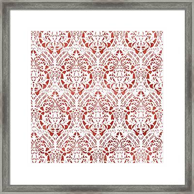Sanguine Vintage Pattern Framed Print by Frank Tschakert