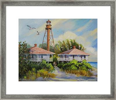 Sanibel Lighthouse Framed Print by Dianna  Willman