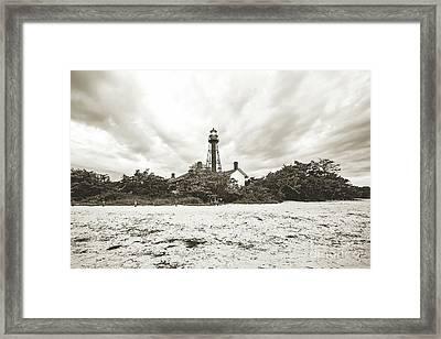 Sanibel Lighthouse Sunrise Framed Print by Scott Pellegrin