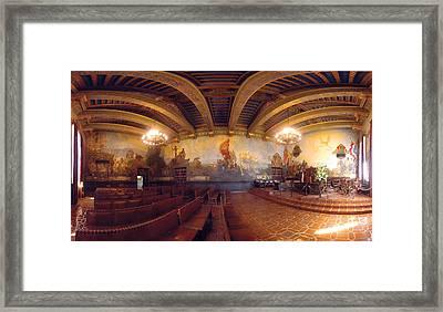 Santa Barbara Court House Mural Room Photograph Framed Print by Brian Lockett
