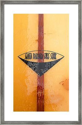 Santa Barbara Surf Shop Framed Print by Ron Regalado
