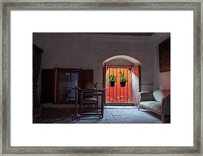 Santa Catalina Monastery Window Framed Print by Jess Kraft