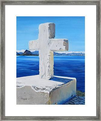 Santa Catarina's Cross Framed Print by Marilyn  McNish