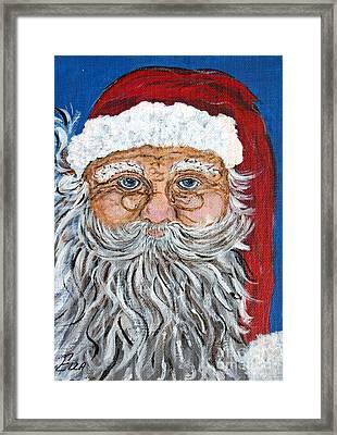 Santa Claus - Christmas Art Framed Print by Ella Kaye Dickey